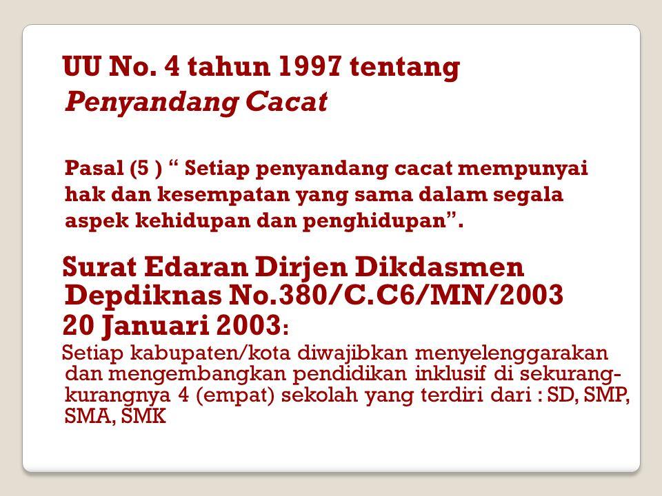 UU No. 4 tahun 1997 tentang Penyandang Cacat