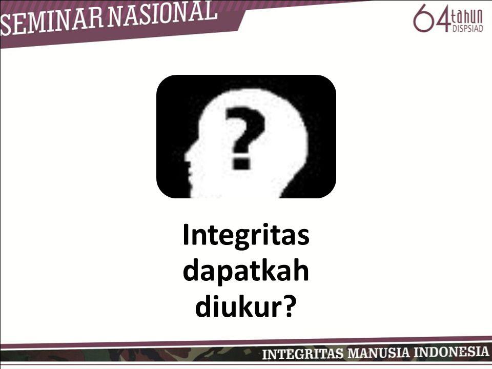 Integritas dapatkah diukur