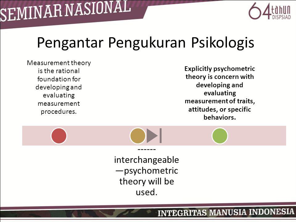 Pengantar Pengukuran Psikologis