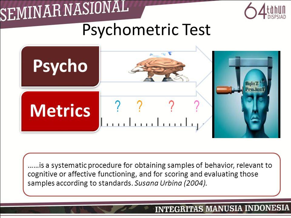 Psycho Metrics Psychometric Test