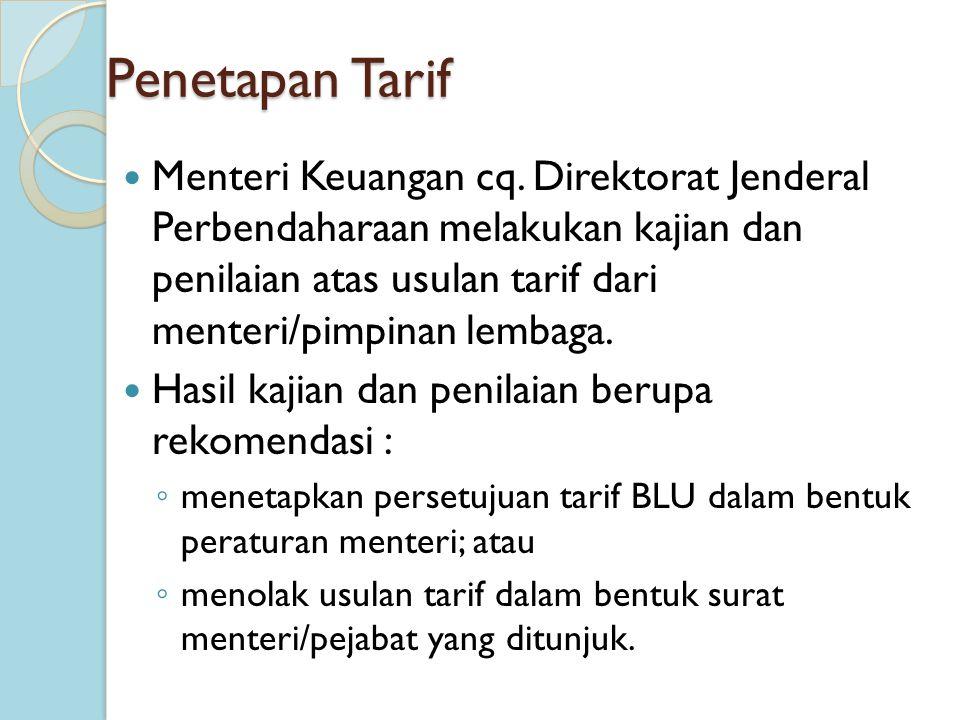 Penetapan Tarif