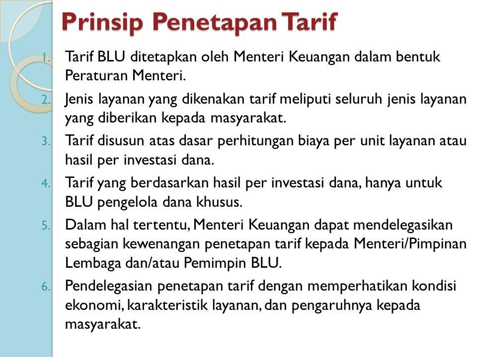 Prinsip Penetapan Tarif