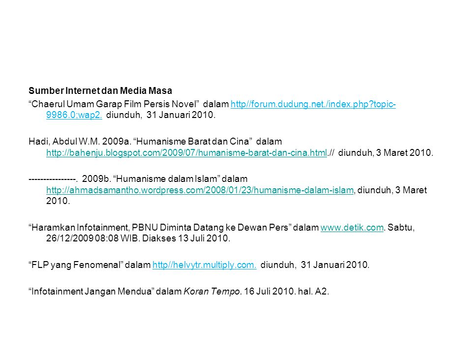 Sumber Internet dan Media Masa Chaerul Umam Garap Film Persis Novel dalam http//forum.dudung.net./index.php topic-9986.0;wap2.