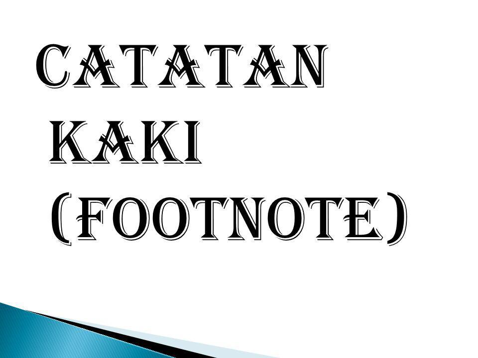 Catatan Kaki (footnote)