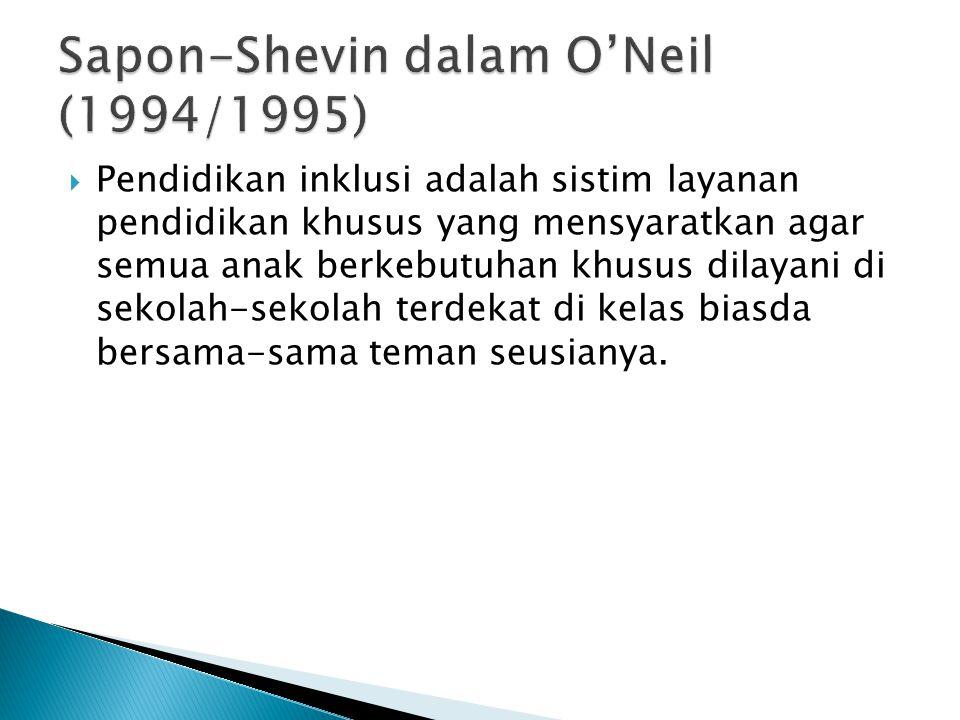 Sapon-Shevin dalam O'Neil (1994/1995)