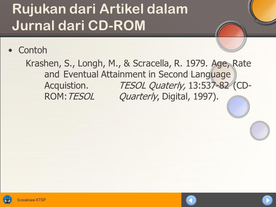 Rujukan dari Artikel dalam Jurnal dari CD-ROM
