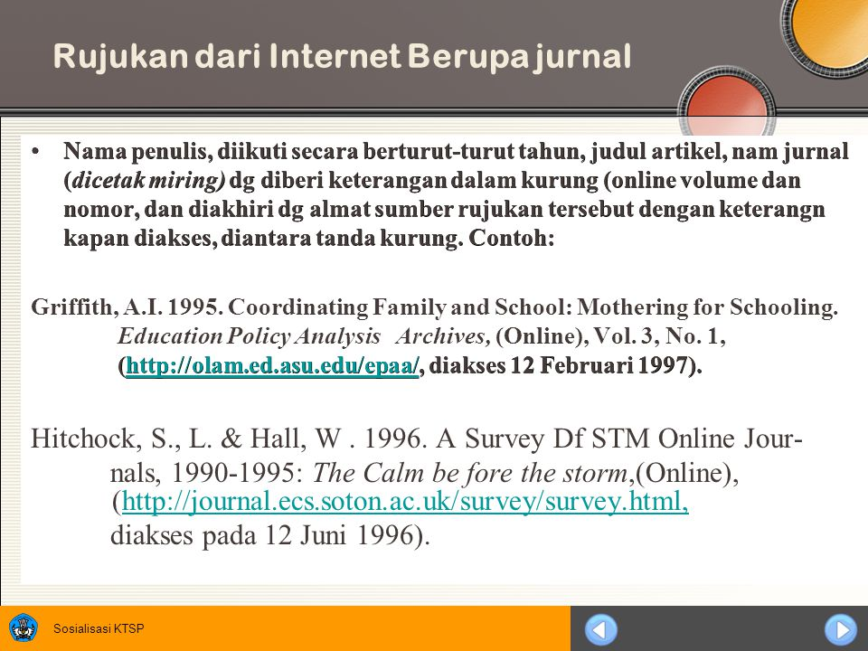 Rujukan dari Internet Berupa jurnal