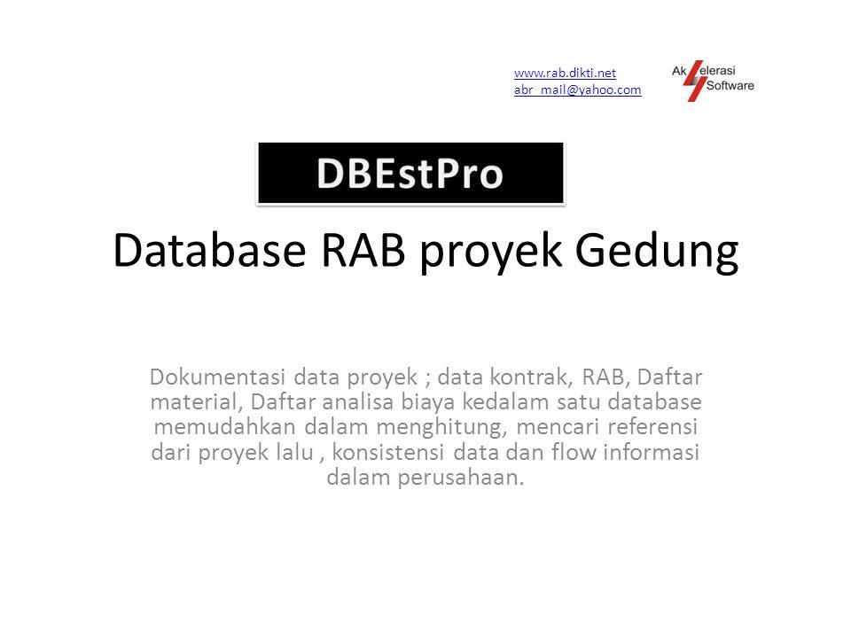 Database RAB proyek Gedung