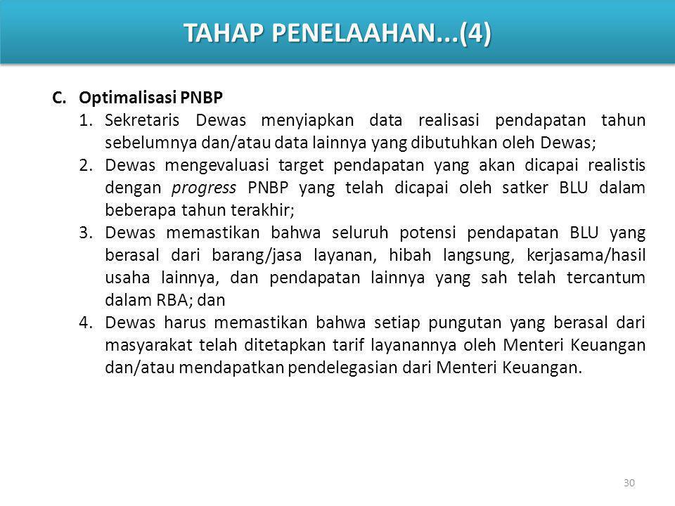 TAHAP PENELAAHAN...(4) Optimalisasi PNBP