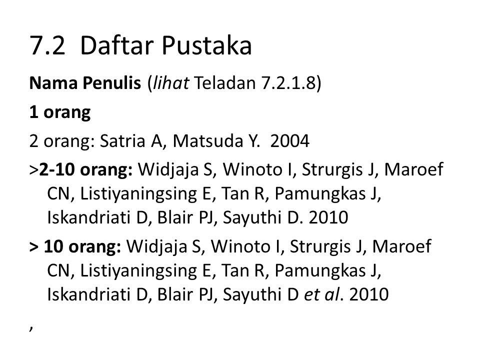 7.2 Daftar Pustaka