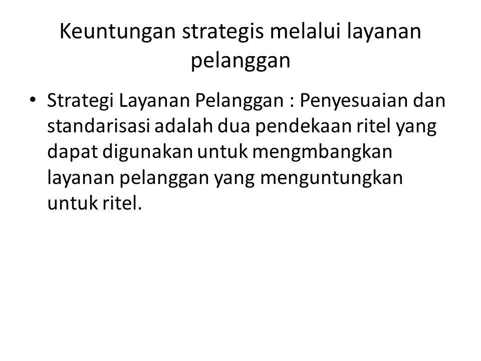 Keuntungan strategis melalui layanan pelanggan