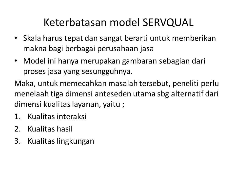 Keterbatasan model SERVQUAL