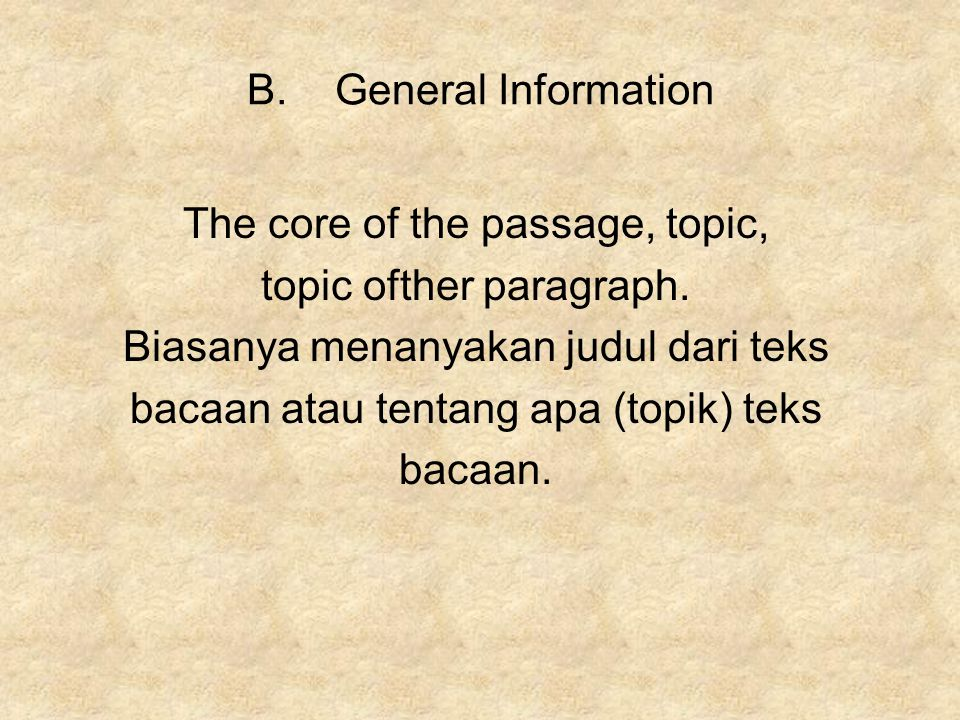 The core of the passage, topic, topic ofther paragraph.
