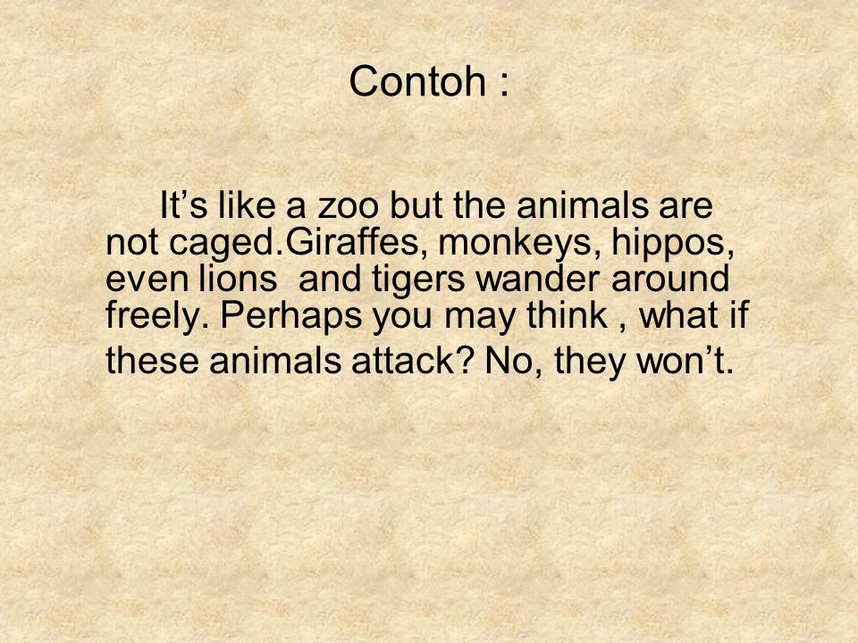 Contoh :