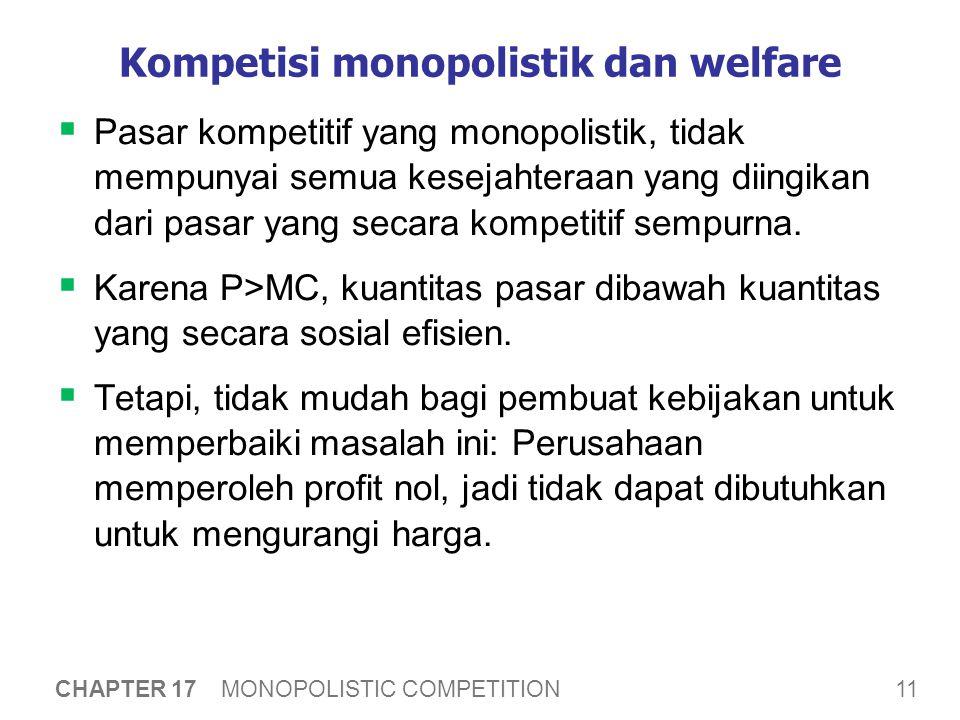 Kompetisi monopolistik dan welfare
