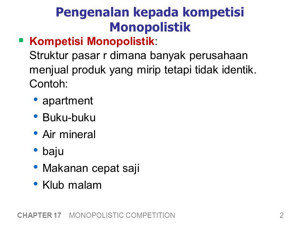 Membandingkan kompetisi sempurna dan monopolistik
