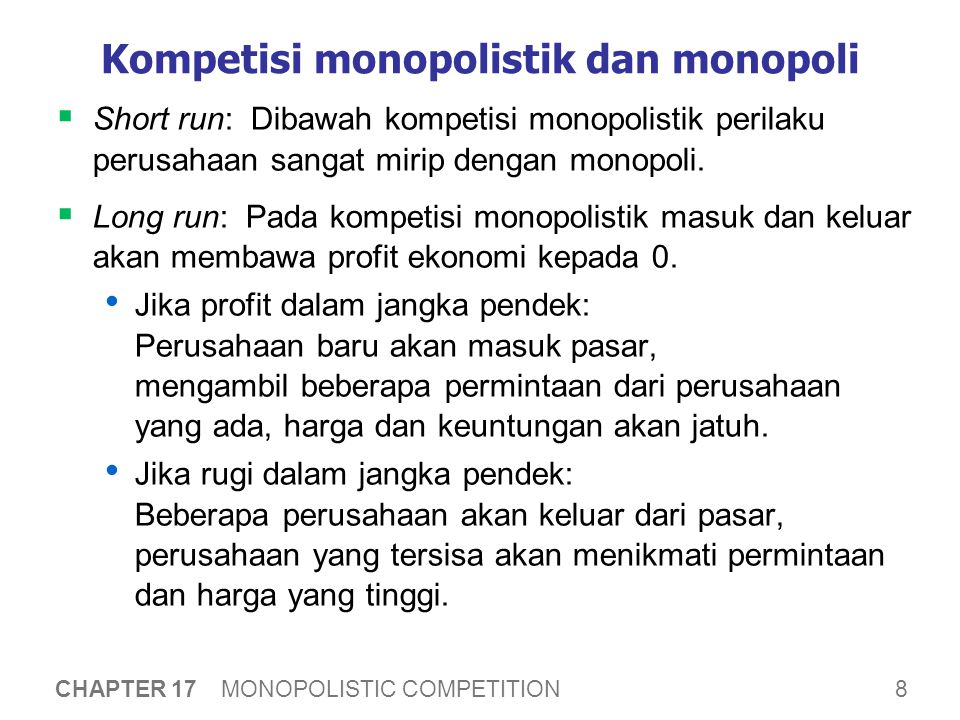 Kompetisi monopolistik dalam jangka Panjang