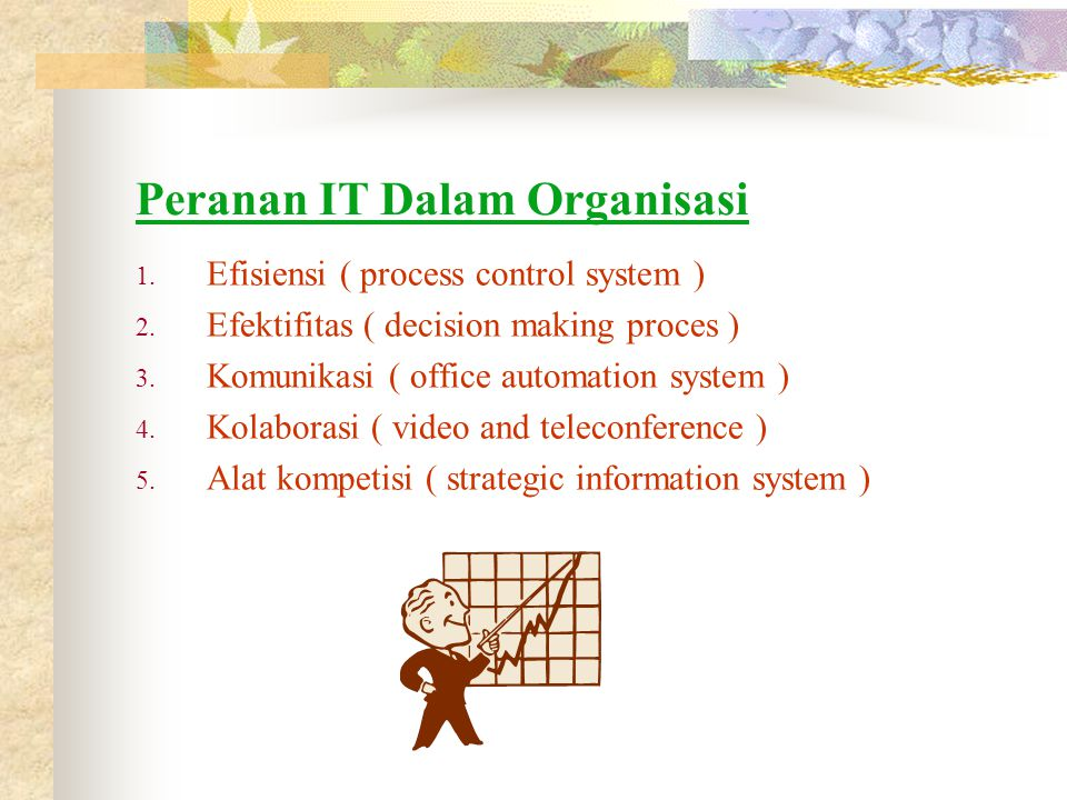 Peranan IT Dalam Organisasi