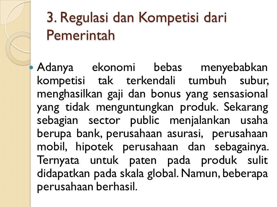 3. Regulasi dan Kompetisi dari Pemerintah
