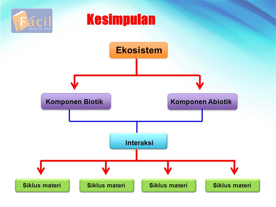 Kesimpulan Ekosistem Komponen Biotik Komponen Abiotik Interaksi