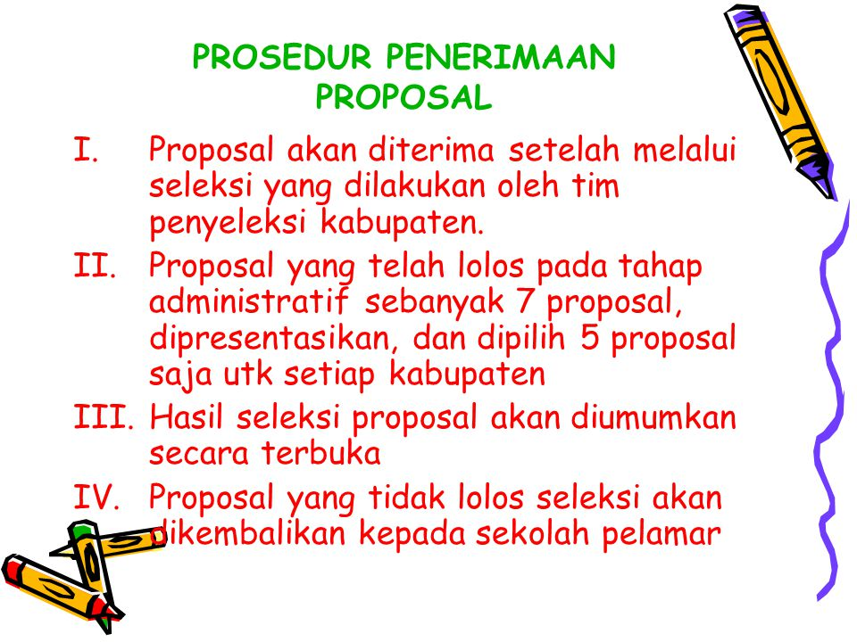 PROSEDUR PENERIMAAN PROPOSAL