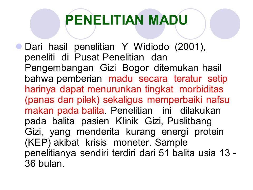 PENELITIAN MADU