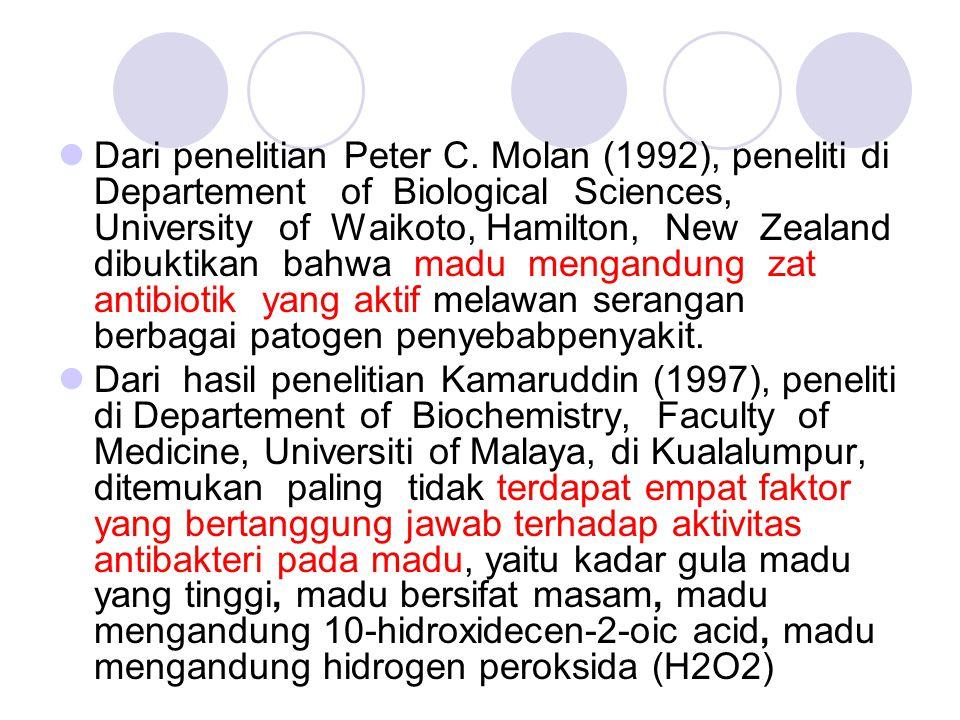 Dari penelitian Peter C