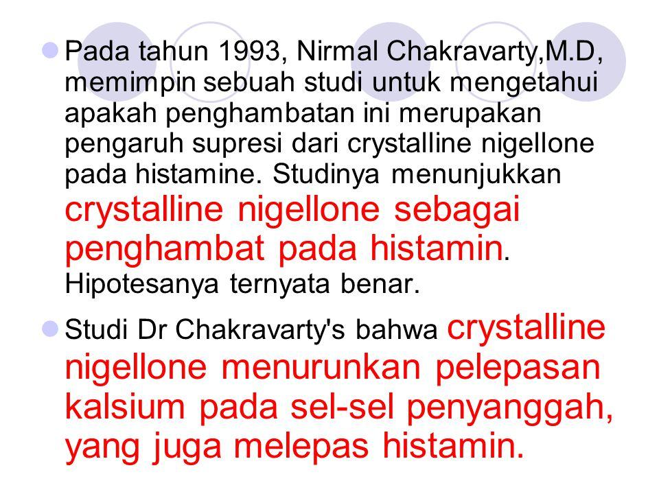 Pada tahun 1993, Nirmal Chakravarty,M