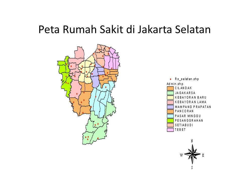 Peta Rumah Sakit di Jakarta Selatan