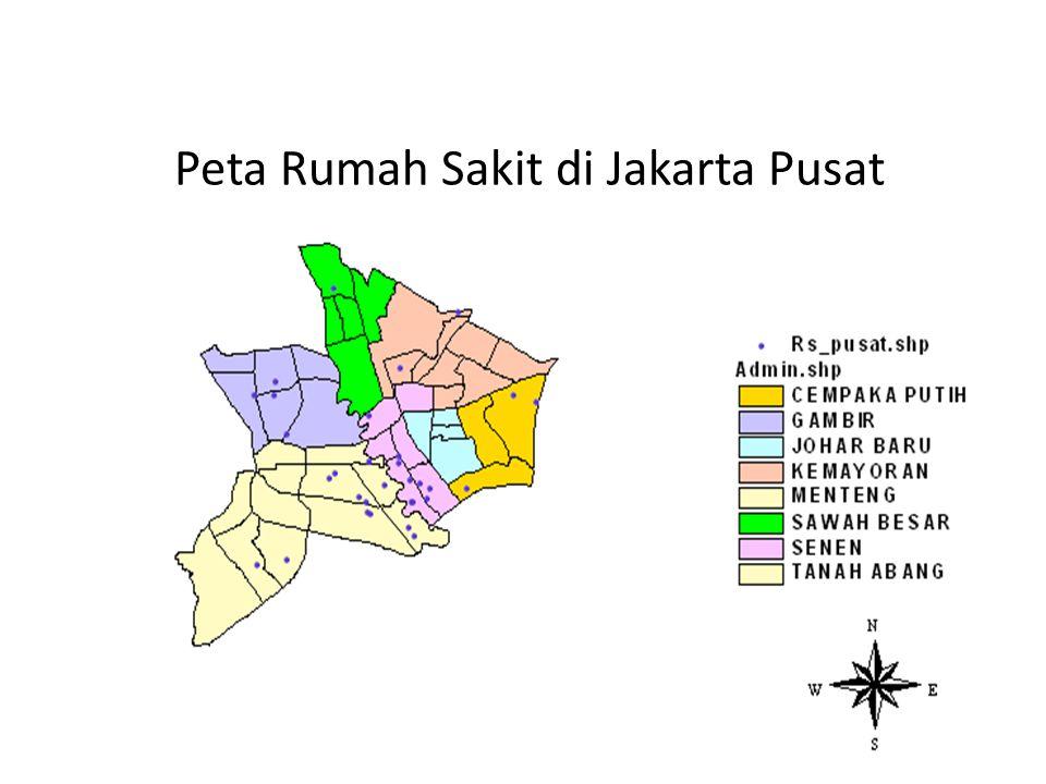Peta Rumah Sakit di Jakarta Pusat