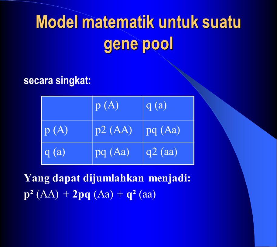 Model matematik untuk suatu gene pool