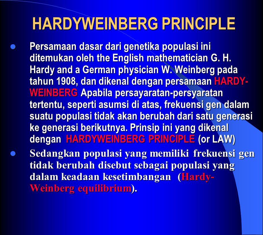 HARDYWEINBERG PRINCIPLE
