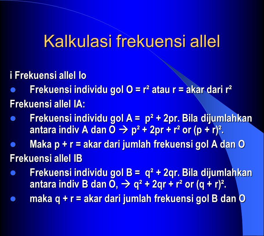 Kalkulasi frekuensi allel