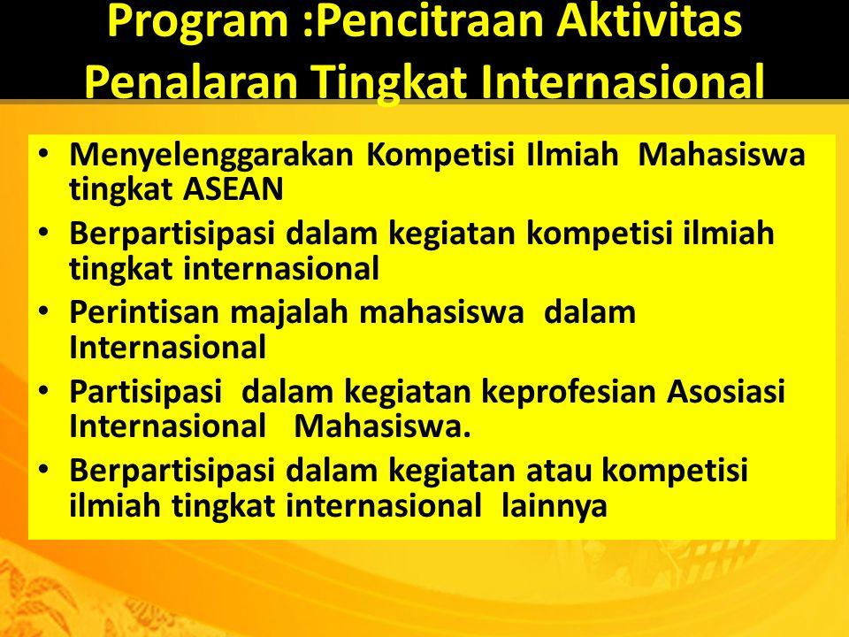 Program :Pencitraan Aktivitas Penalaran Tingkat Internasional