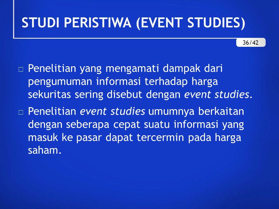 STUDI PERISTIWA (EVENT STUDIES)