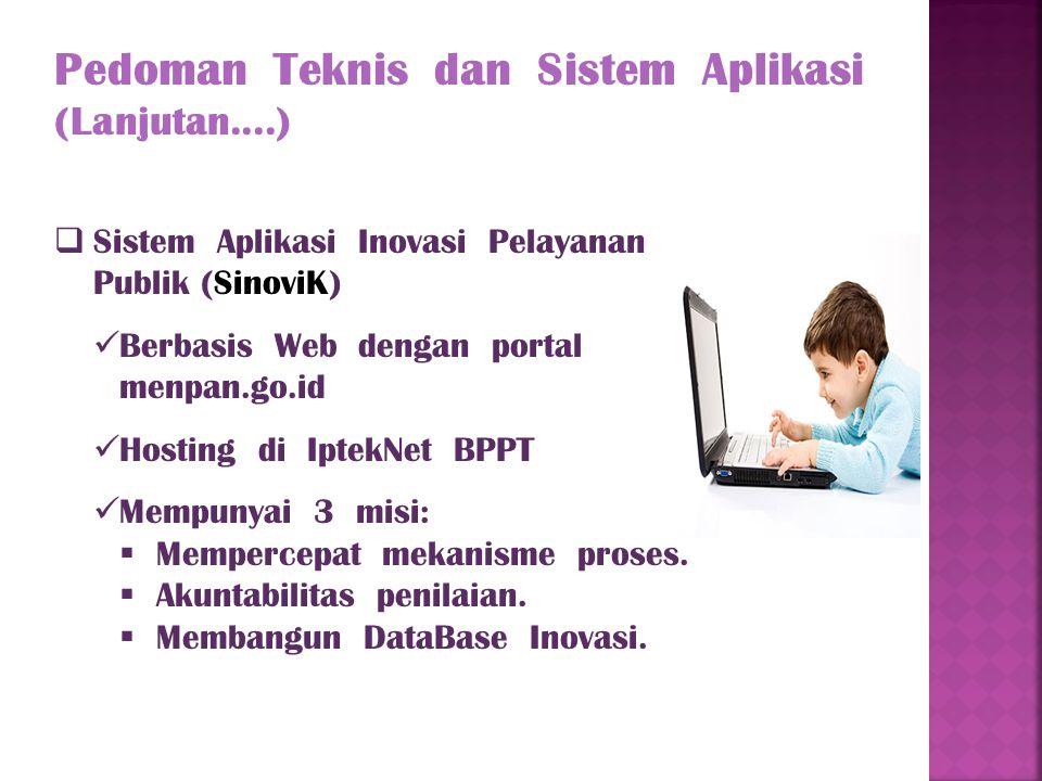 Pedoman Teknis dan Sistem Aplikasi