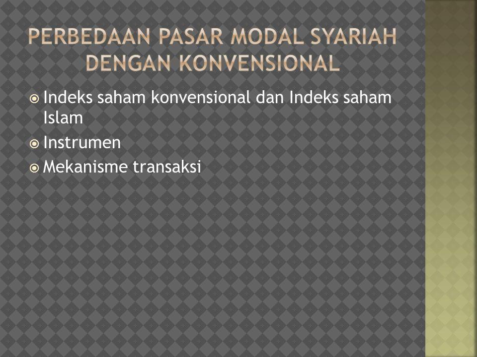 Perbedaan Pasar Modal Syariah dengan Konvensional