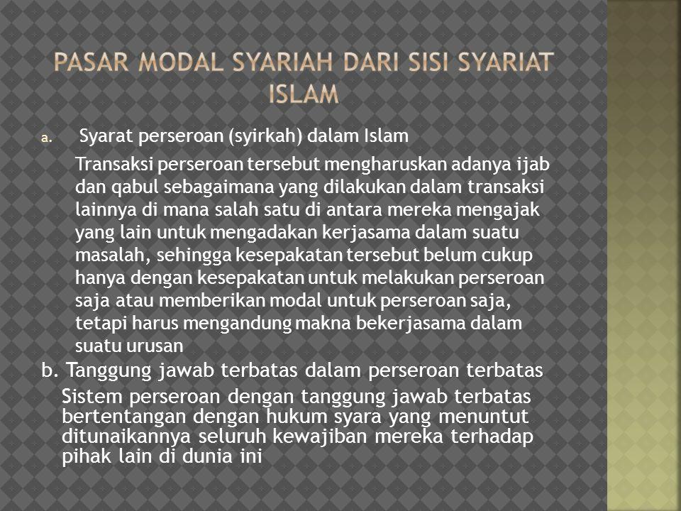 Pasar Modal Syariah dari Sisi Syariat Islam