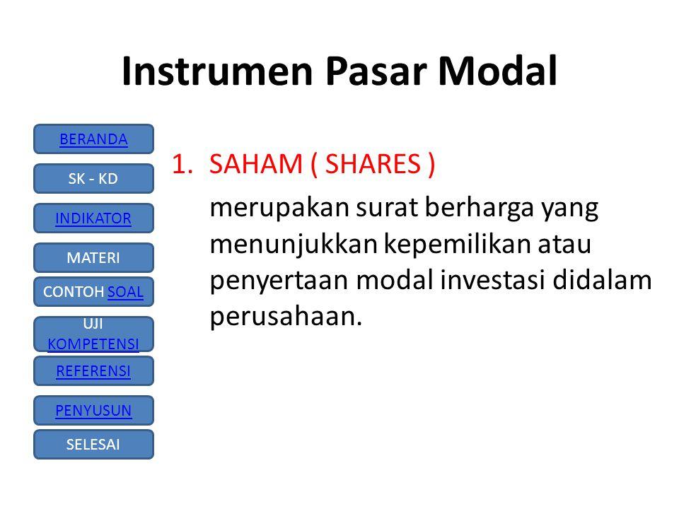 Instrumen Pasar Modal SAHAM ( SHARES )