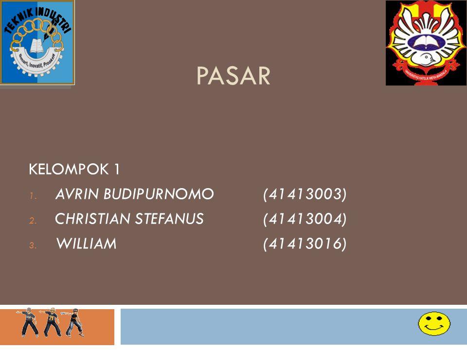 PASAR KELOMPOK 1 AVRIN BUDIPURNOMO (41413003)