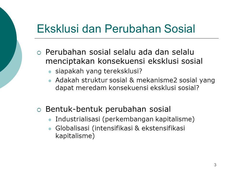 Eksklusi dan Perubahan Sosial