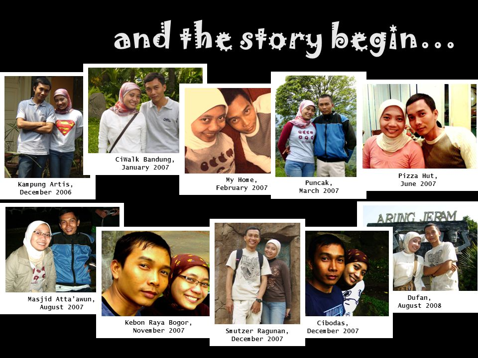 and the story begin… CiWalk Bandung, January 2007 Pizza Hut, June 2007