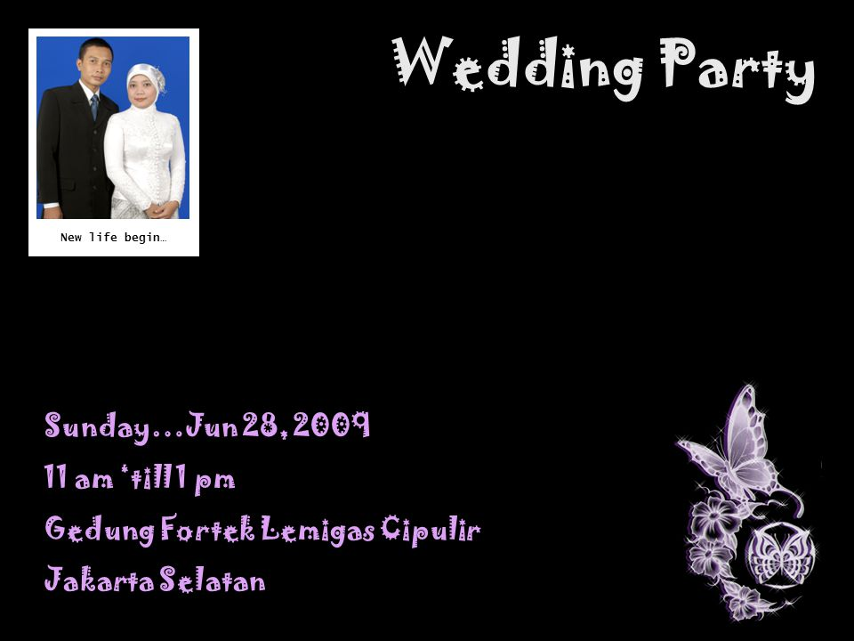 Wedding Party Sunday…Jun 28, am 'till 1 pm