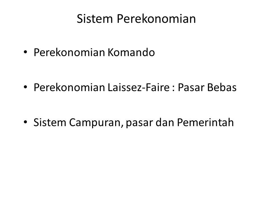 Sistem Perekonomian Perekonomian Komando