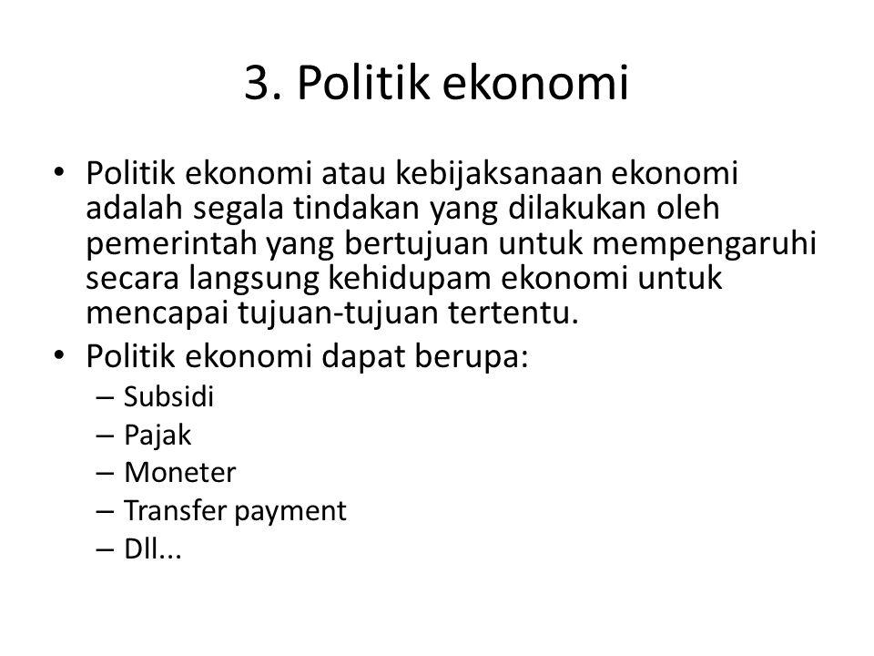 3. Politik ekonomi