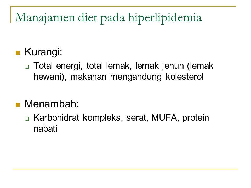 Manajamen diet pada hiperlipidemia