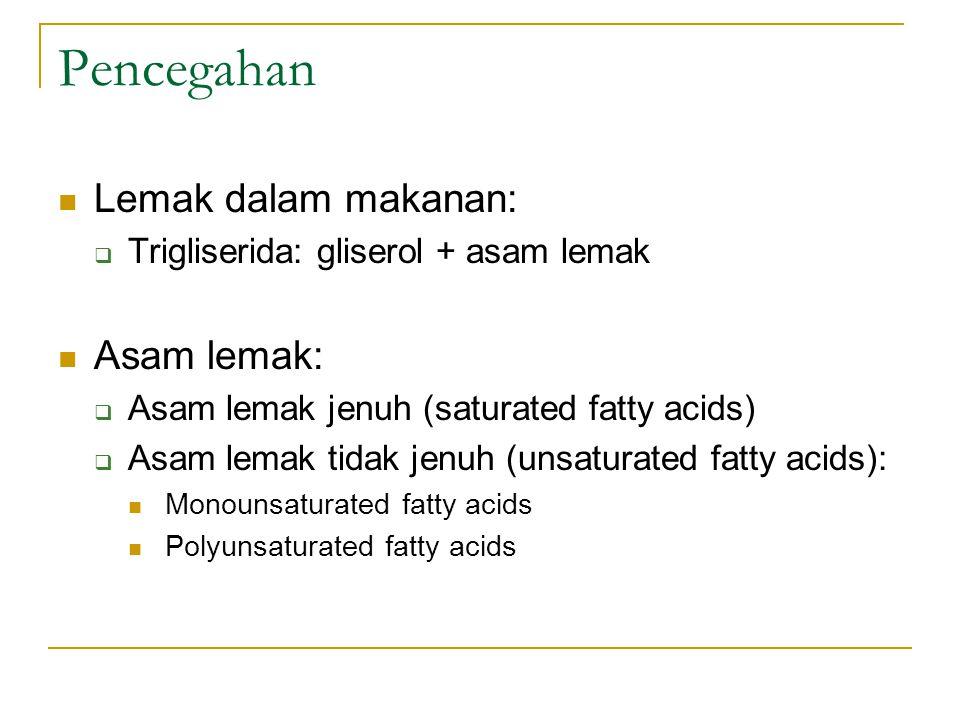 Pencegahan Lemak dalam makanan: Asam lemak: