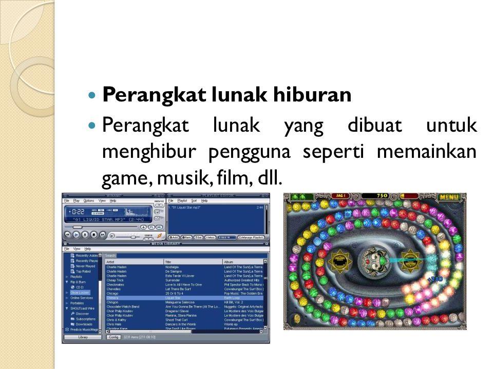 Perangkat lunak hiburan