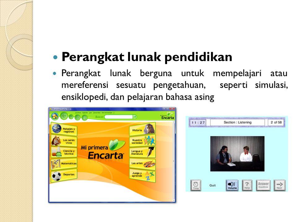 Perangkat lunak pendidikan