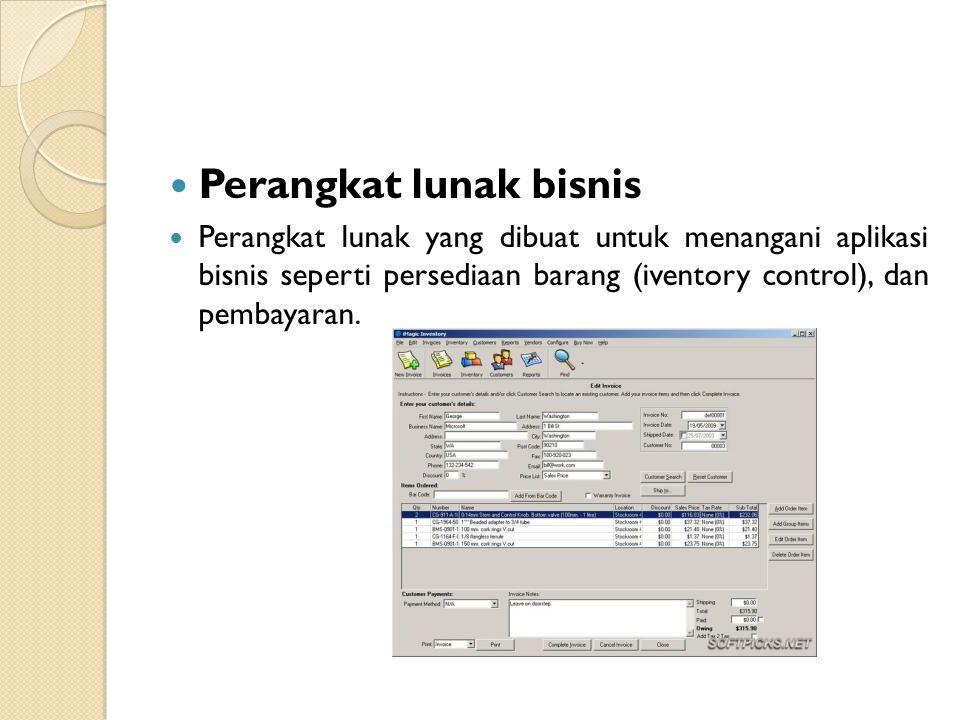 Perangkat lunak bisnis